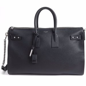 Large Sac du Jour Leather Duffle Tote